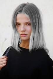 grey hair and easy tutorial