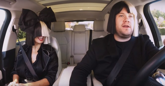 James Corden Sings Chandelier Has Heart To With Sia During Carpool Karaoke