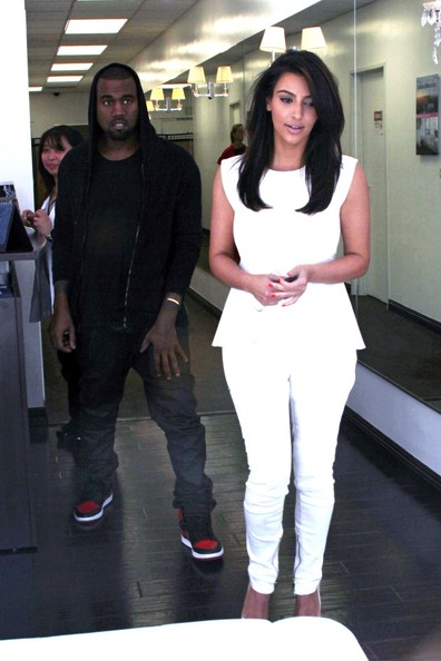 Kim Kardashian Thursday, June 28, 2012.  Power couple reality star Kim Kardashian and singer Kanye West are spotted leaving a laser hair removal salon in Los Angeles.