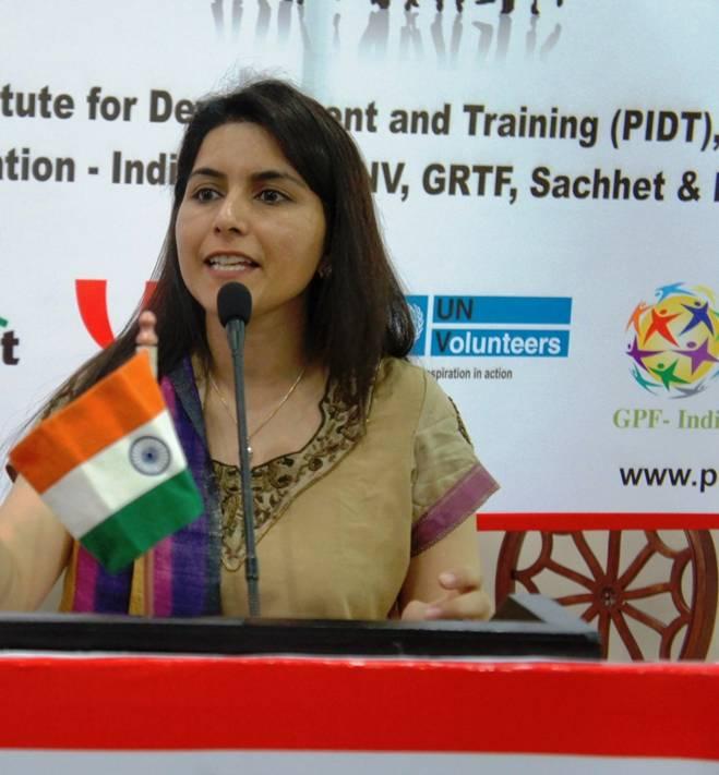 Amita Dahiya, UN volunteer
