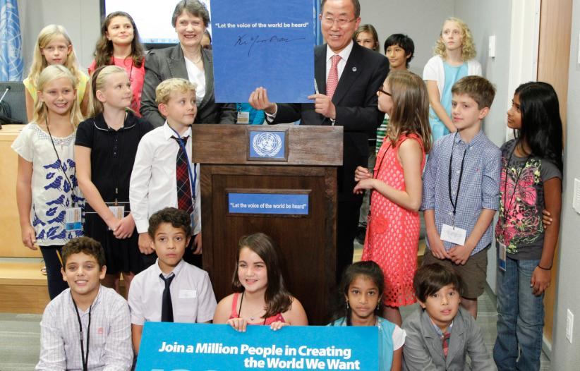 UN Secretary-General listens to 1 million voices from MY World