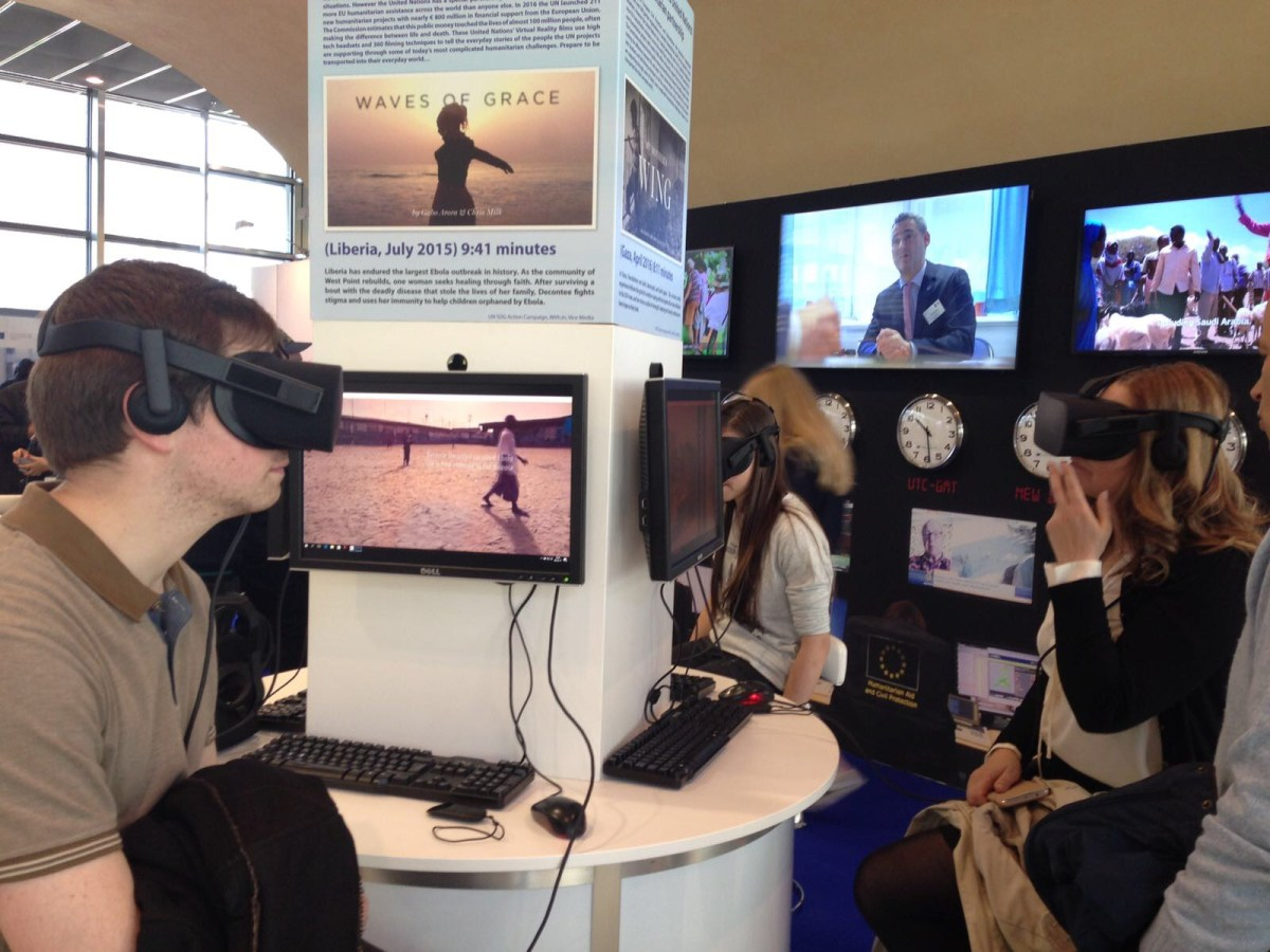 UN Virtual Reality at European Commission Open Doors Day