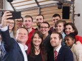 Neujahrsempfang SPD Waltrop 2019 Frank Schwabe Selfie-min