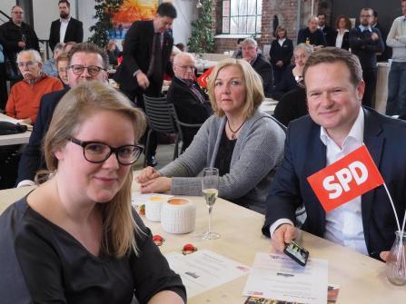 Neujahrsempfang SPD Waltrop 2019 Lisa Kapteinat Frank Schwabe-min