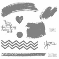 Work of Art Wood-Mount Stamp Set by Stampin' Up!