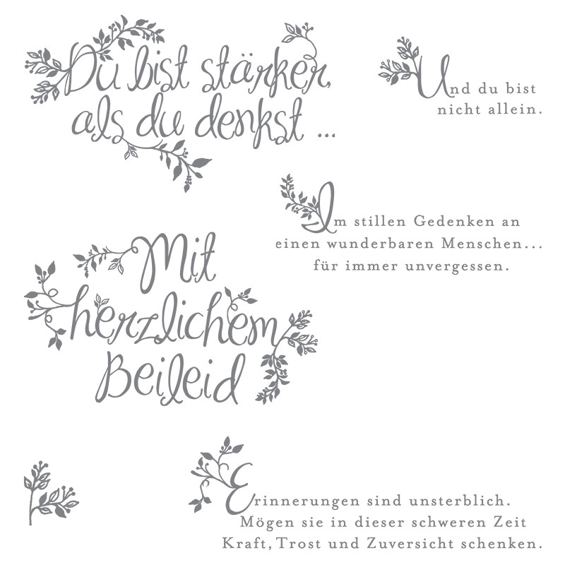 Herzliches Beileid Photopolymer Stamp Set (German) by