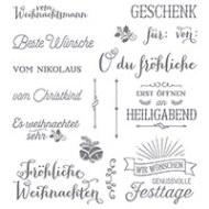 Fröhliche Weihnachten Photopolymer Stamp Set (German)