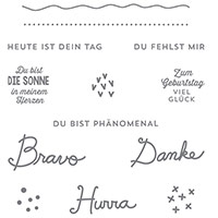 Sonnengruß Clear-Mont Stamp Set (allemand) par Stampin 'Up!