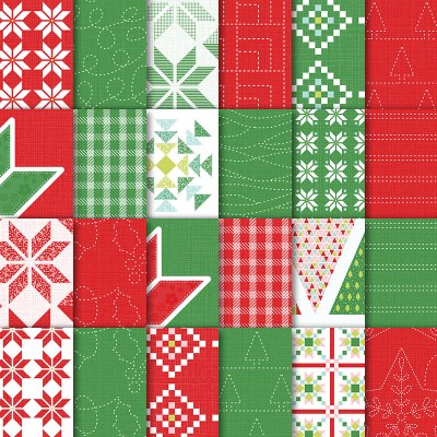 """Quilted Christmas 6"""" x 6"""" (15.2 x 15.2 cm) Designer Series Paper"""