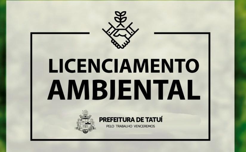 DOCUMENTOS RELACIONADOS AO LICENCIAMENTO AMBIENTAL ESTÃO DISPONÍVEIS NO SITE DA PREFEITURA