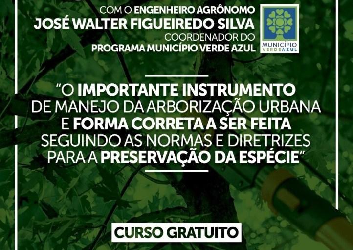 PREFEITURA PROMOVERÁ, NESTA SEXTA NA CÂMARA, CURSO GRATUITO  DE PODA PARA ARBORIZAÇÃO URBANA