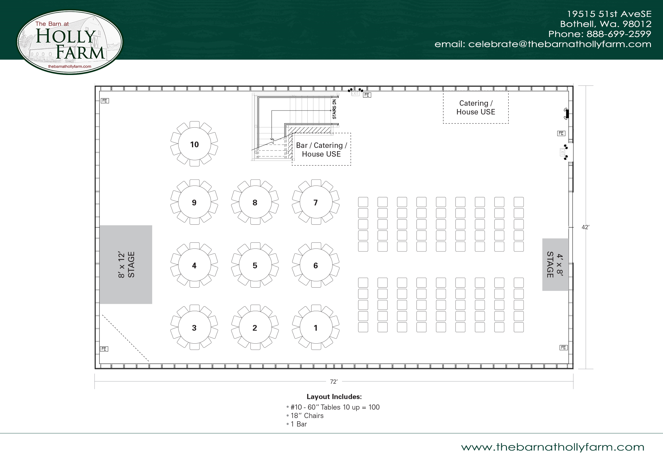 View The Barn At Holly Farm Floor Plans Customizable For Your Event