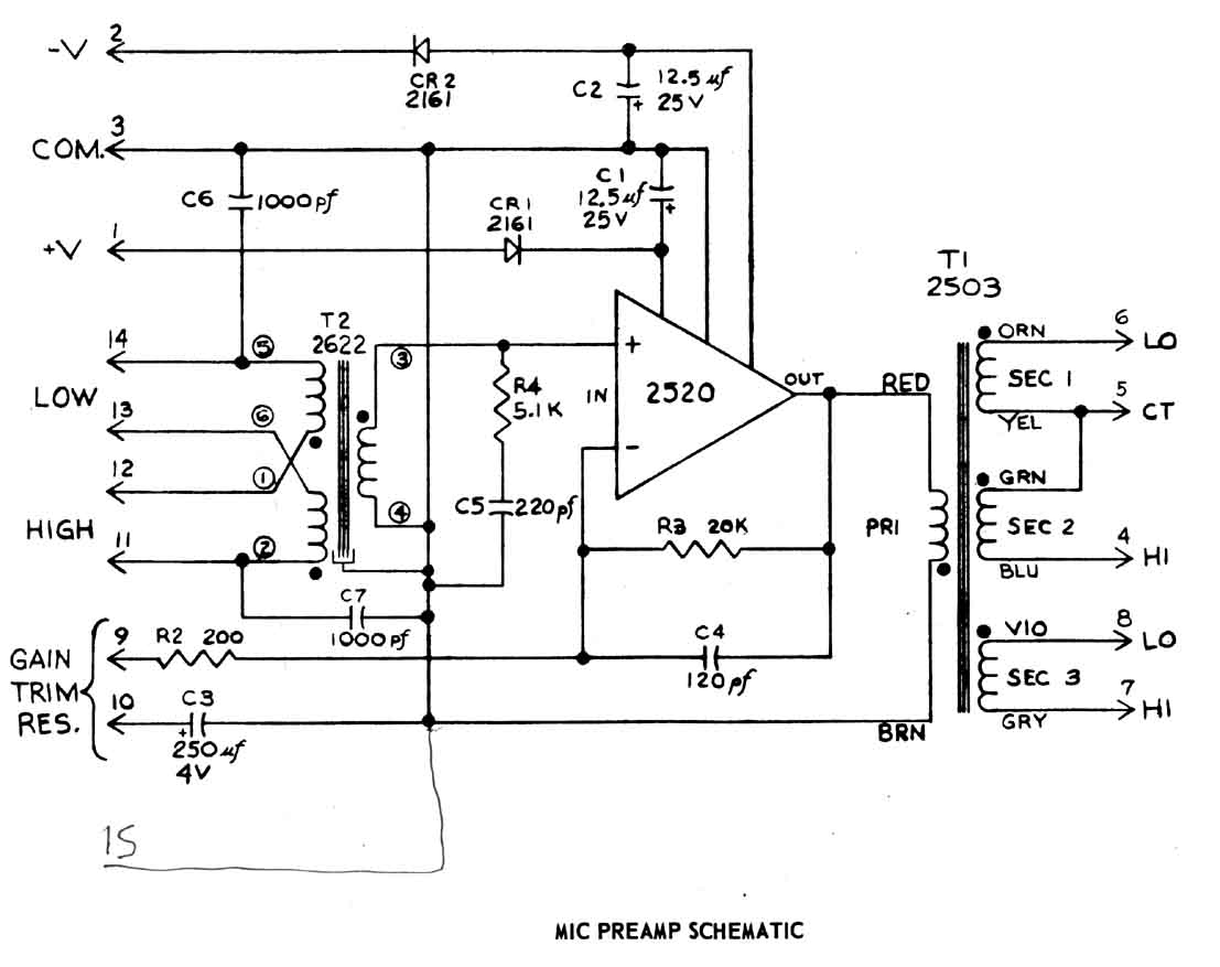 hight resolution of audio preamp diagram