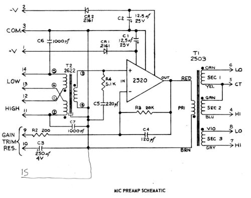 small resolution of audio preamp diagram