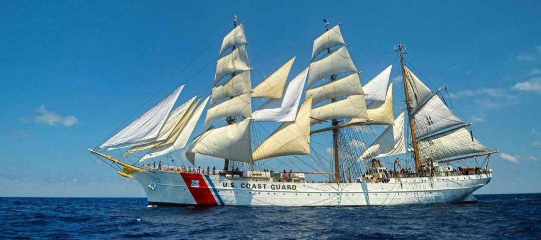 The Coast Guard tall ship Eagle