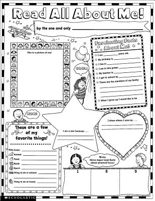 Read All about Me Posters: 30 Big Write-And-Read Learning