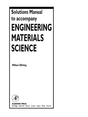 Solutions Manual to Accompany Engineering Materials