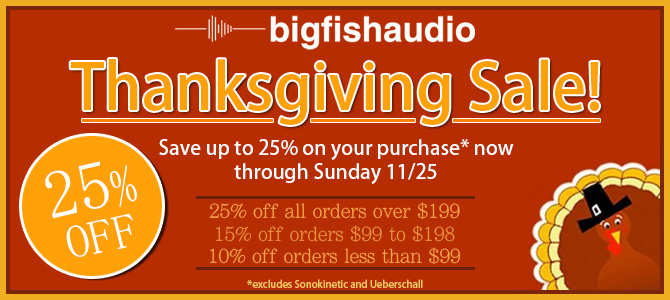 Thanksgiving Sale 25% Off!