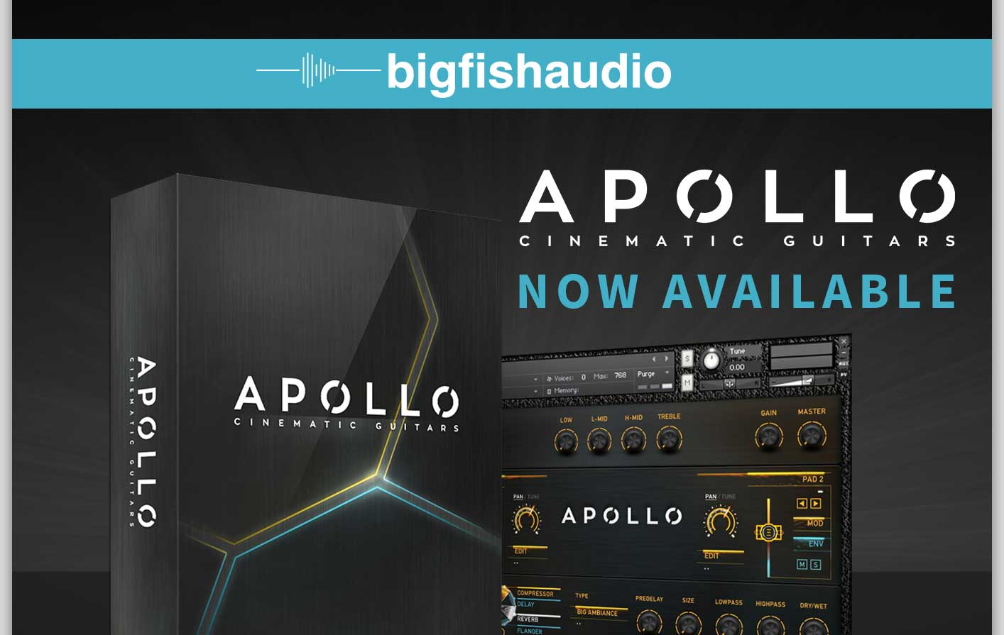 Apollo Cinematic Guitars now available!