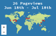 Locations of blogvisitors