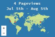 Ubicaciones de los visitantes al blog