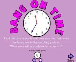 Aprende y Juega con la hora en inglés