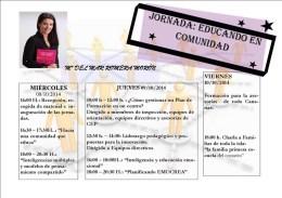 JORNADAS EDUCANDO EN COMUNIDAD. Mar Romera