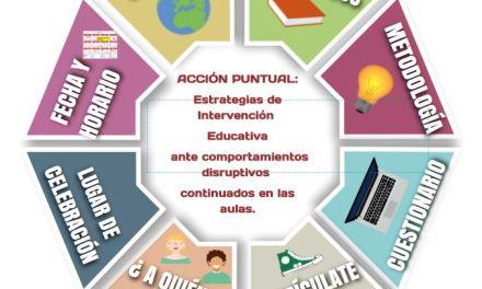 Acción Formativa: Estrategias de intervención educativa ante comportamientos disruptivos en el aula