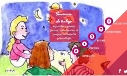 Seminario de trabajo intercentros: «Aprender a pensar juntos. Introducción al proyecto Filosofía para niños y niñas»