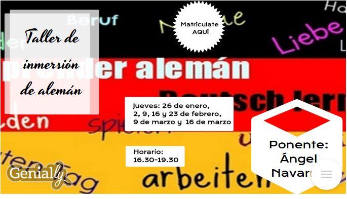 Taller de inmersión lingüística en ALEMÁN
