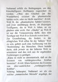 Aus dem Fazit einer Vorlesung [From the Conclusion of a Lecture] (nach 2000). Photo: Tanja Semlow.