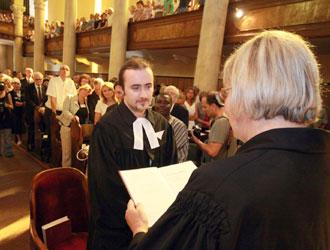 Un momento del sinodo valdese a Torre Pellice