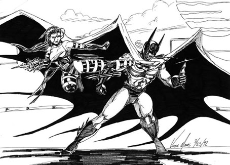 Psylocke vs Batman