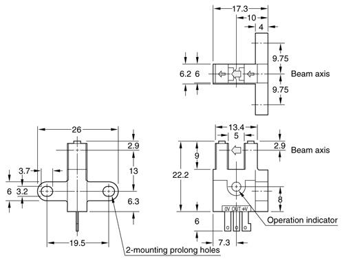 U-shaped Micro Photoelectric Sensor PM-53 (Discontinued