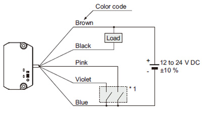 Wafer Mapping Sensor M-DW1 I/O Circuit and Wiring diagrams