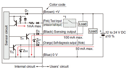 photoelectric cell wiring diagram heating diagrams y plan robust sensor rx i o circuit and retroreflective diffuse reflective type sensors