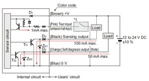 Robust Photoelectric Sensor RX IO Circuit and Wiring