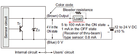 through beam photoelectric sensor wiring diagram 12 volt electric hydraulic pump robust rx i o circuit and diagrams receiver of thru type retroreflective diffuse