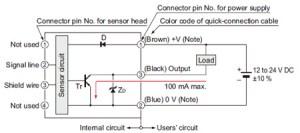 Compact Inductive Proximity Sensor GA311GH IO Circuit