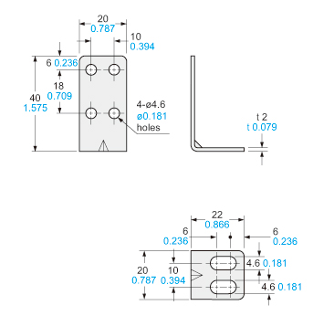 Ultra-slim Body Picking Sensor NA1-PK5/NA1-5 Dimensions