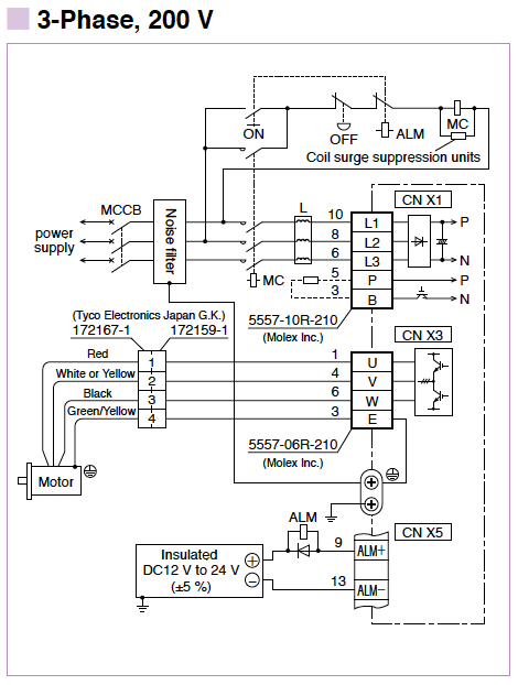 Infinity Amplifier Wiring Diagram Minas E Series Wiring Connection Automation Controls