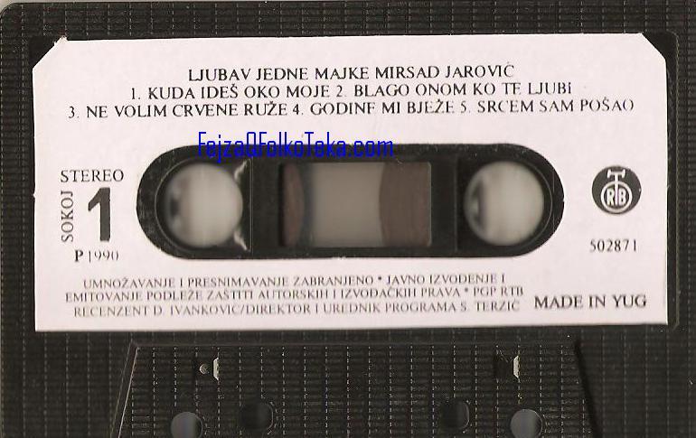 Mirsad Jarovic 1990 kaseta - Ljubav jedne majke