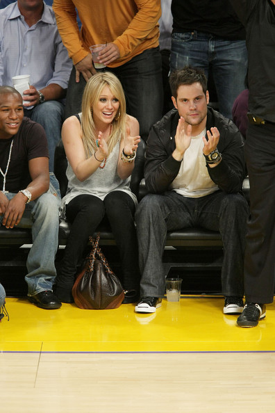 Mike Comrie in Celebrities At NBA Finals Game 3: LA Lakers Vs. Boston Celtics