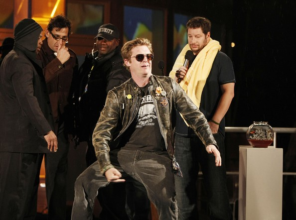 "David ""Puck"" Rainey disrupts the show at MTV's Real World Awards Bash at the Sunset Plaza House on March 15, 2008 in Los Angeles, California."
