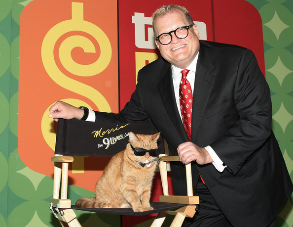 Drew Carey with Morris the cat