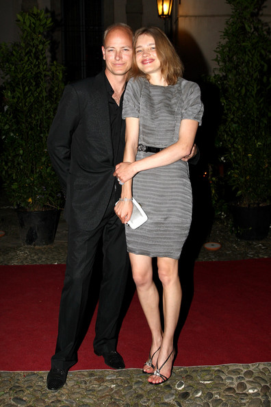 Natalia Vodianova Justin Portman and model Natalia Vodianova attend Uomo Vogue 40th Anniversary Celebration Party as part of Milan Fashion Week Menswear Spring/Summer 2009 on June 22, 2008 in Milan, Italy.