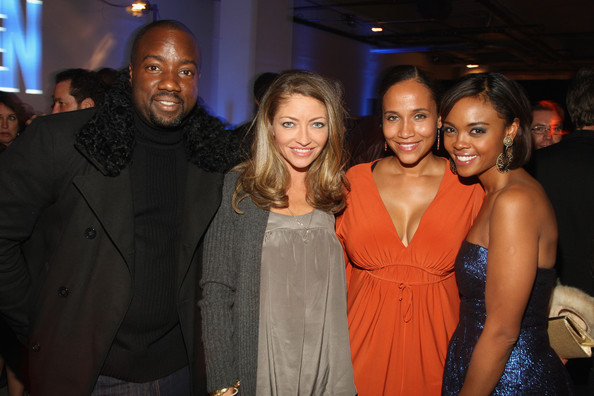 "Rebecca Gayheart Actors Malik Yoba, Rebecca Gayheart, Yvonna Wright and Sharon Leal attend the after party for the world premiere of ""Soul Men"" at The Hip Hop Cultural Center on October 28, 2008 in New York City."