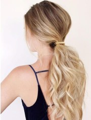 clipped ponytail - hairstyles