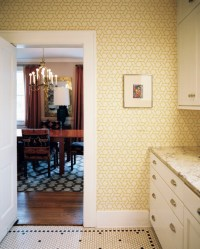 yellow kitchen wallpaper 2017 - Grasscloth Wallpaper