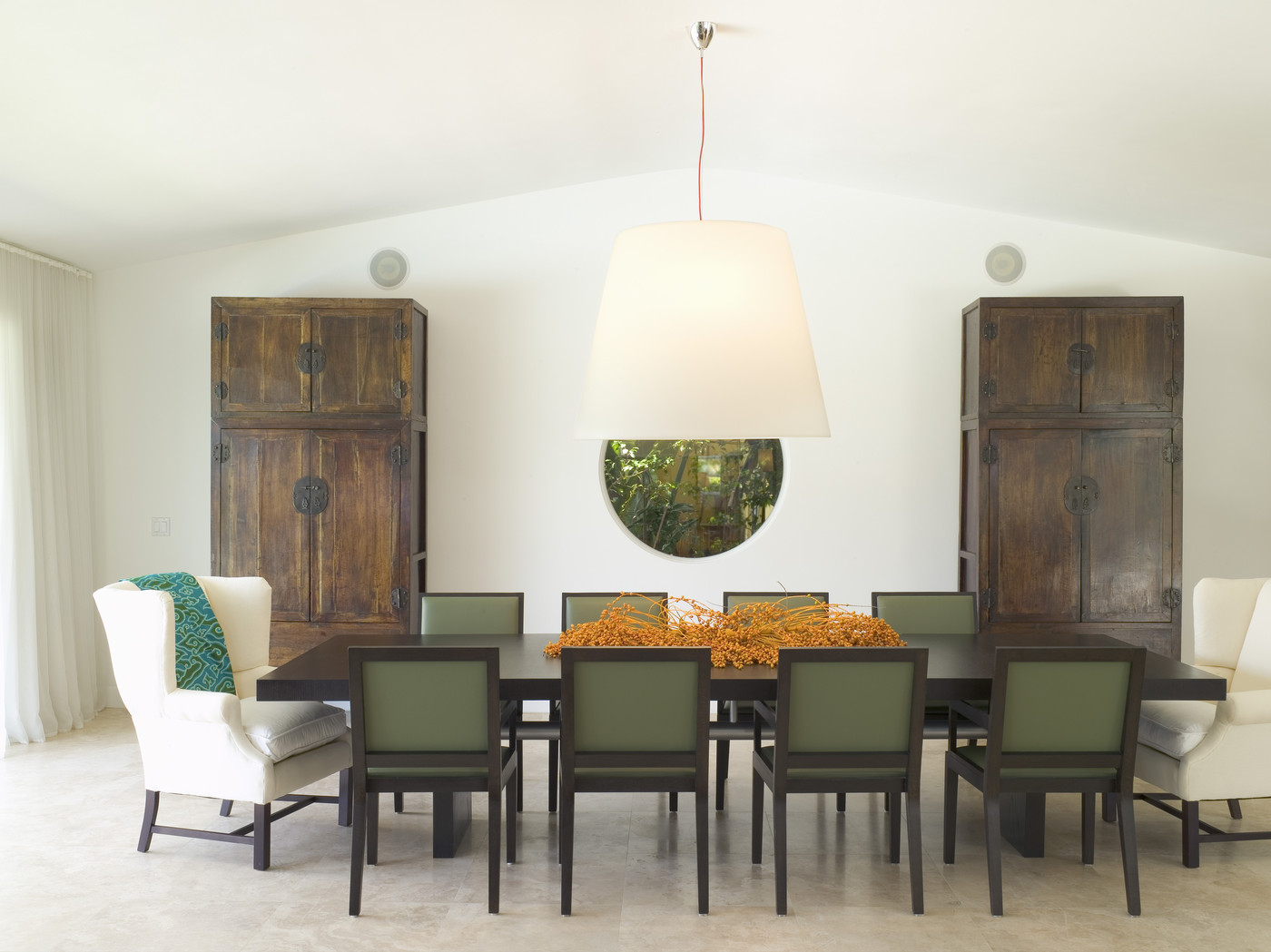 White AsianModern Dining Room  Dining Room Decorating